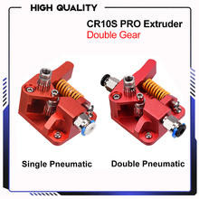 BIQU CR10S PRO Dual Gear Extruder Upgrade MK8 Extruder for Ender 3/5 CR10S PRO 1.75mm 3d Printer Parts double pulley Extruder