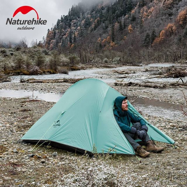 Naturehike New 2 Person Ultralight Professional Camping Tent 20D Silicone Windproof Outdoor Hiking Backpacking Tent Free Mat 5