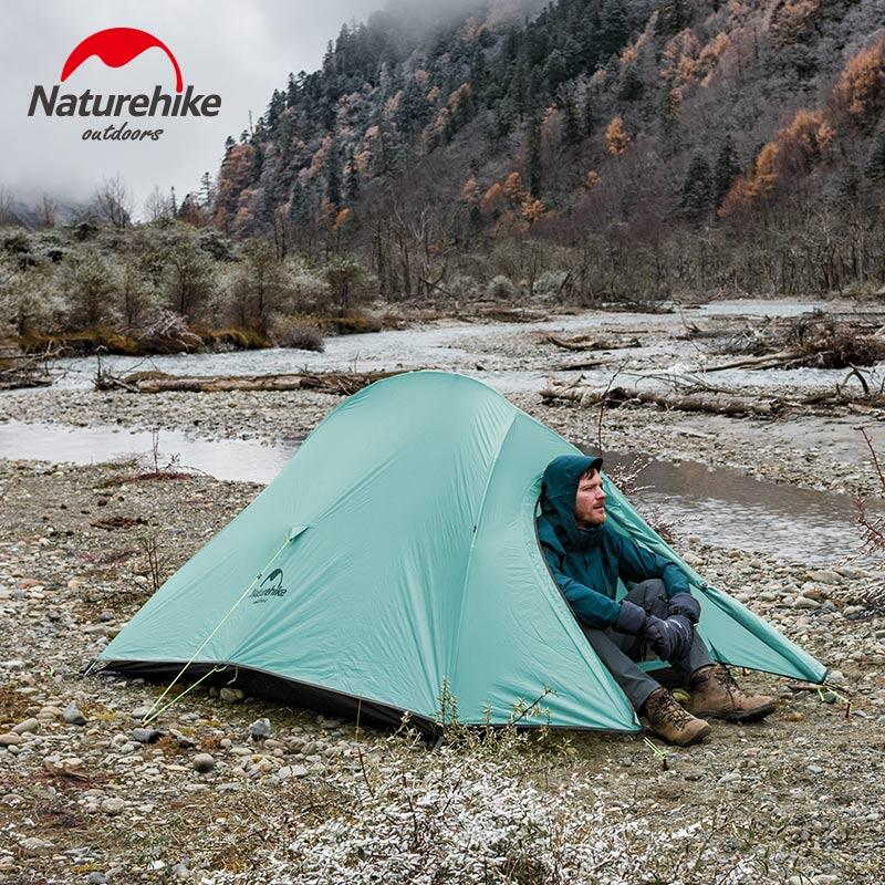 Naturehike Selbst Stehenden 2 Person Camping Zelt 20D Nylon Ultraleicht Professional Series 2 mann Outdoor Wandern Zelte Mit Kostenloser Matte