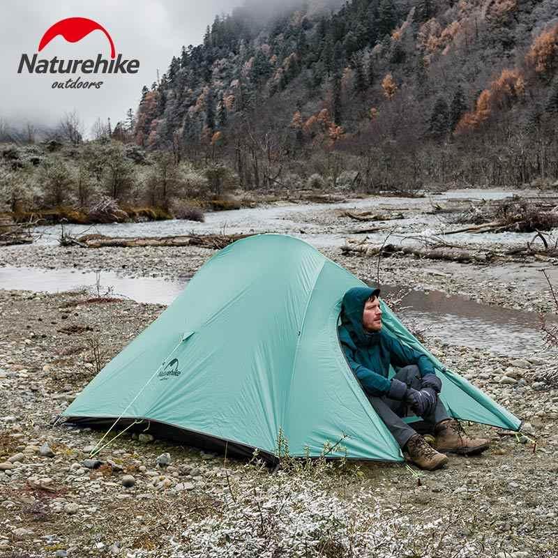Naturehike nowy 2 osoby Ultralight chmura UP 2 profesjonalny namiot kempingowy 20D silikonowy wiatroszczelny odkryty namiot turystyczny darmo Mat