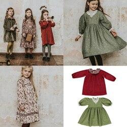 2020 be o nova marca outono inverno crianças vestido de veludo para meninas bonito impressão manga longa vestido grosso bebê criança moda outfts pano
