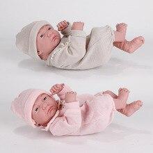 Кукла новорожденная силиконовая в форме лежа, 35 см