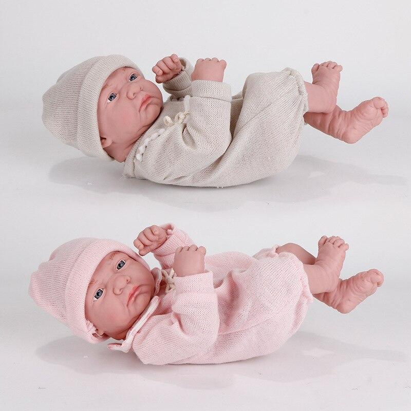 Bonecas reborn bebê 35cm, brinquedos, em forma de deitar, em silicone, corpo inteiro, boneca para crianças recém-nascidas, bonito brinquedo para a menina presente