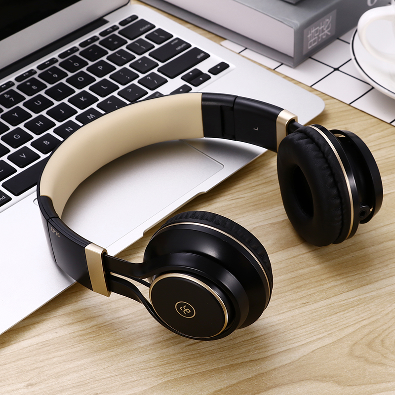 Colorful Gaming Headset EP16 3.5mm Wired Headband Fone De Ouvido Folding Stereo Bass Headset For Games Office Music Headphones