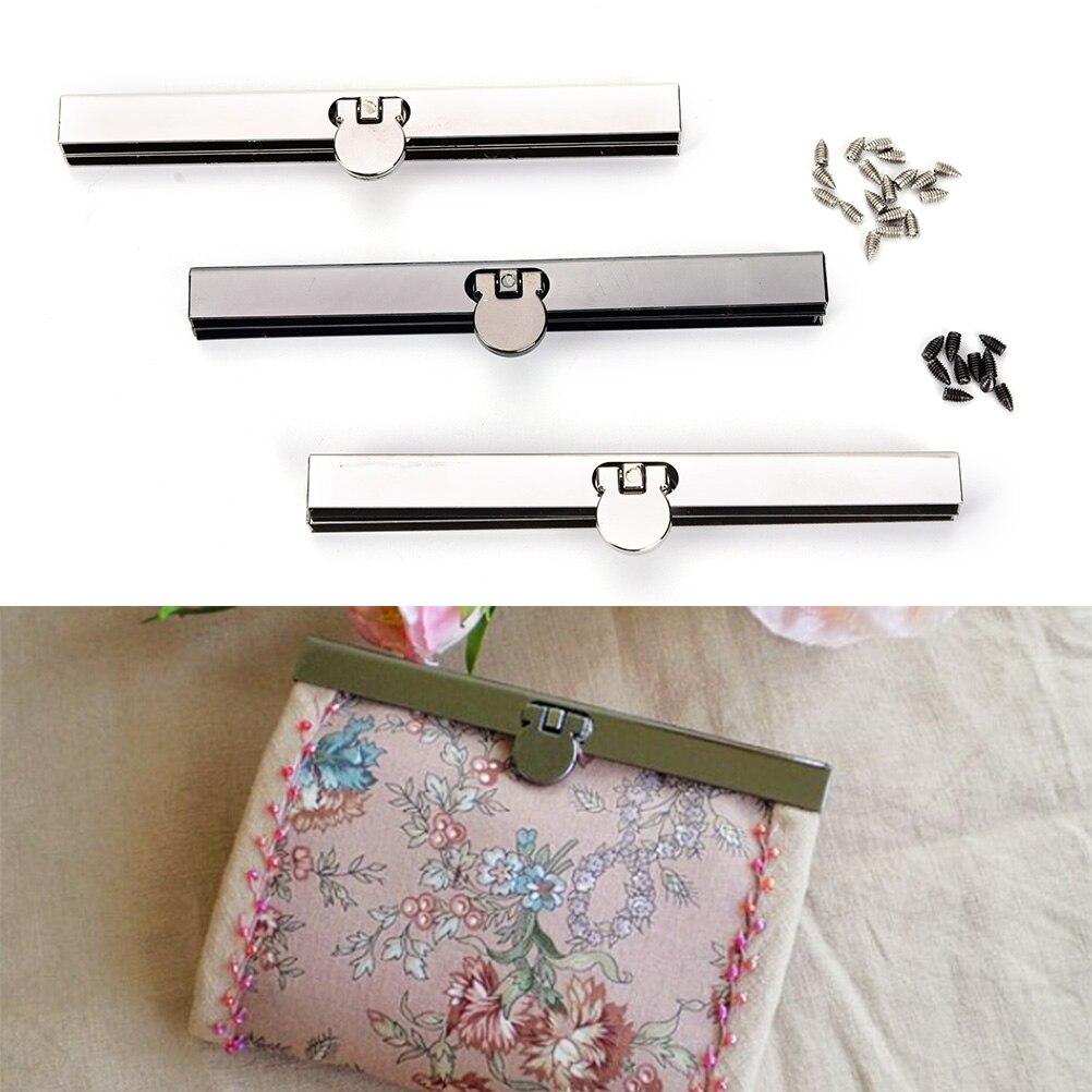 1PCS 19cm/11.5cm Antique Black Chrome Bronze Tone Metal Purse Frame For Wallet Making DIY Bags Accessory