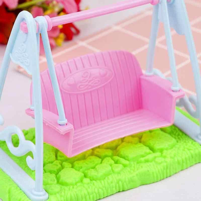 1pcs נדנדה עבור בובת ילדה בובת צעצוע בית ריהוט אביזרי מיניאטורות בובות נדנדה צעצועים לילדים בובות אבזרים מתנה