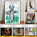 Jean Michel Graffiti Artist Abstract Canvas Painting Posters and Prints on The Wall Art Pictures Cuadros Home Decorative Plakat