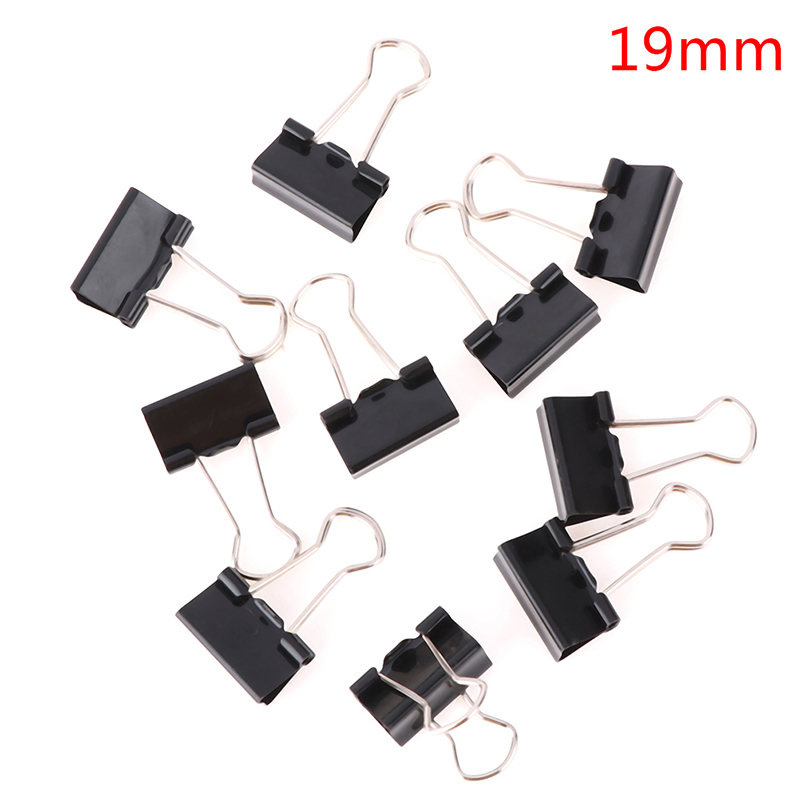 10 Pcs/lot Black Metal Binder Clips 19 / 25 / 32 Mm Notes Letter Paper Clip Office Supplies Binding Securing Clip Product