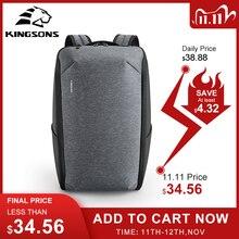 Kingsons çok fonksiyonlu erkekler 15 inç dizüstü sırt çantaları moda su geçirmez seyahat sırt çantası Anti theft erkek Mochila okul çantaları sıcak
