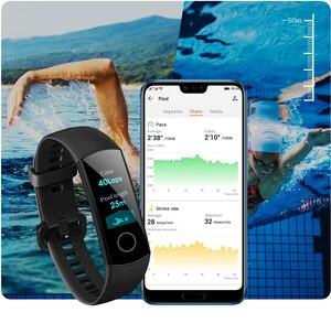 Image 5 - Huawei Honor 4 Band 5 สมาร์ทนาฬิกา 50 M กันน้ำฟิตเนส Tracker หน้าจอสัมผัส AMOLED Heart Rate Monitor ข้อความแสดง