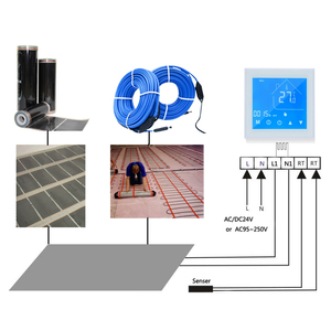 Image 3 - WiFi חכם תרמוסטט טמפרטורת בקר LCD תצוגת שבוע לתכנות עבור מים/גז הדוד Ewelink עבור Alexa Google בית