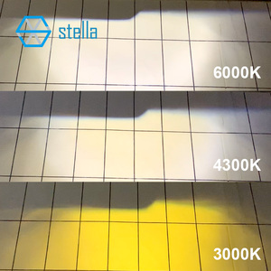 Image 5 - ستيلا توربو led h4 H19 عدسة للمصباح الأمامي 3 لون تغيير كشاف ضوء لمبات للسيارات مصباح العدسات للسيارات 3000k 4300k 6000