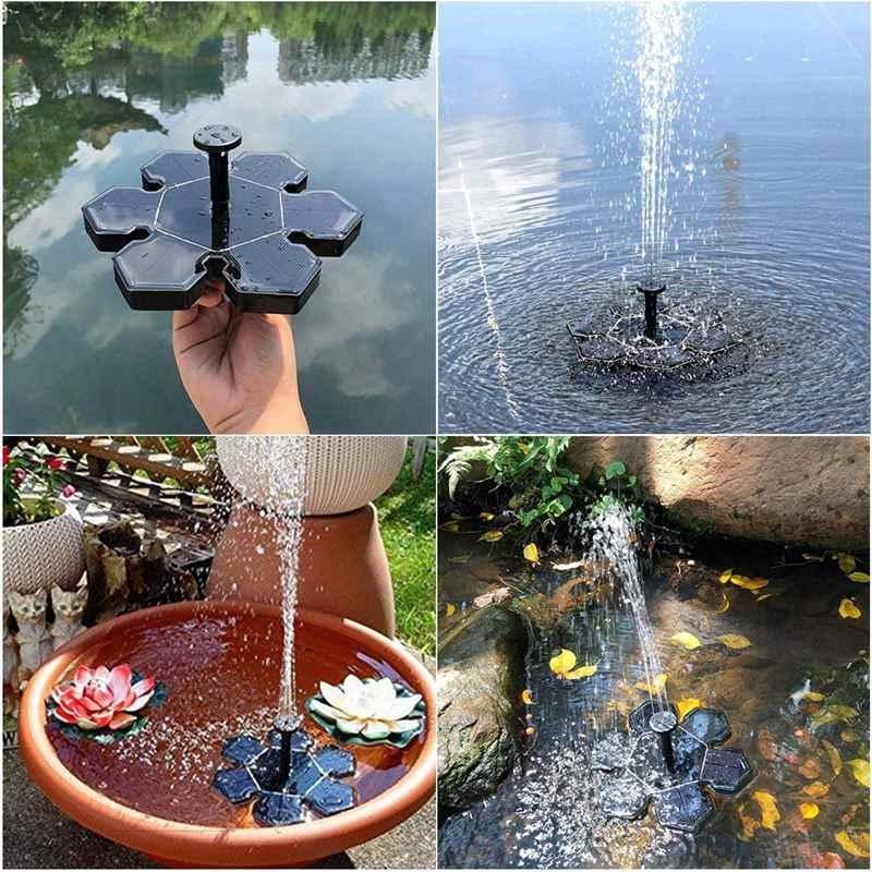 Hot Koop Solar Fontein Batterij Backup Outdoor Bloemvorm Drijvende Waterpomp 1.5W Voor Vogel Bad Kleine Vijver Vis tank