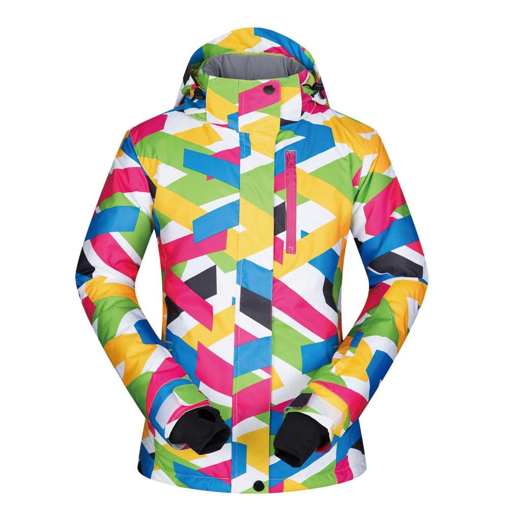 2019 haute qualité en plein air femmes veste de Ski coupe-vent imperméable respirant vêtements épaissir chaud manteau Snowboard à capuche veste