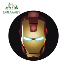EARLFAMILY 13cm x Iron Man Tony Stark Super Hero Marvel Car Stickers Rear Windshield Bumper Laptop Waterproof Vinyl Decal
