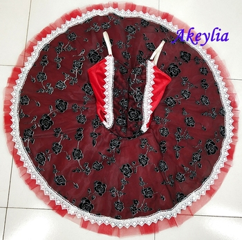 цена на Red Classical ballet tutu For baby black red Ballet Tutus professional adult ballet tutu pancake tutu dance ballet tutu girls