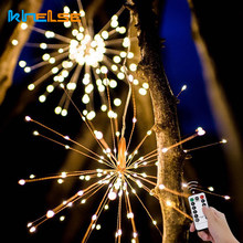Garland Christmas Lights Outdoor Waterproof Firework Flashlight LED String Copper Wire Fairy Patio Wedding Xmas Party Decor Lamp(China)