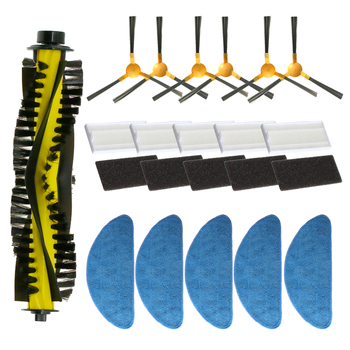 Side Brush + Filter + Mop + Roller Brush For NEATSVOR X500 Robot Vacuum Cleaner Accessory Replacement Kit