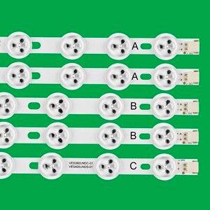 "Image 2 - 5pcs x LED רצועת תאורה אחורית עבור LG 40 ""NDV REV1 VES400UNDS /DC 39FHD CNOV LC 39LD145K 40L3453DB 40PFL3018T/12"