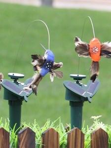 Solar-Toys Birds Garden-Decoration Butterflies Powered Funny for Baby Random-Color Flying