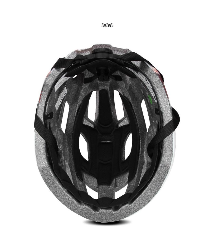 Ανδρικό κράνος ποδηλασίας με ενσωματωμένο επαναφορτιζόμενο led msow