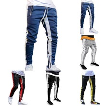 Tracksuit Bottoms Skinny Sweatpants Trousers Black Gyms Jogger Track Pants Mens