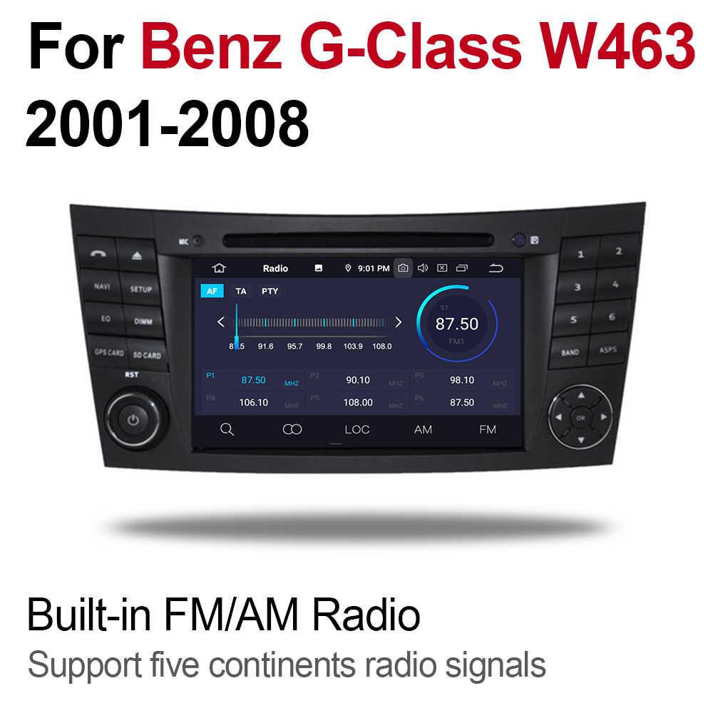 4 Gb Android 9.0 Auto Dvd-speler Voor Mercedes Benz G Klasse W463 2001 ~ 2008 Ntg Multimedia Gps Navigatie kaart Autoradio Wifi Bt