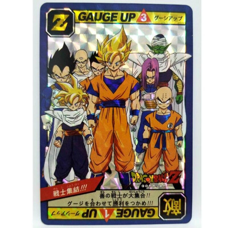 1pcs/set Dragon Ball Z Super Saiyan Goku Vegeta Game Action Toy Figures Commemorative Edition Collection Cards