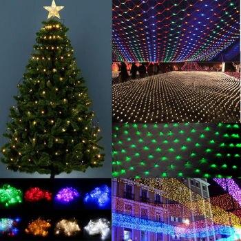 1,5x1,5/3X2 Weihnachten Lichter Net Girlande auf die fenster LED Mesh Grid Lichter Für Straße girlande Weihnachten Dekorationen Für Haus