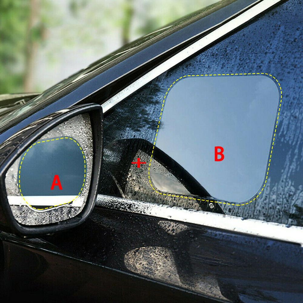 Image 3 - 4pcs Car Side Window Protective Film Universal Anti Fog Membrane Antiglare Waterproof Rainproof Car Sticker Clear Film Kit