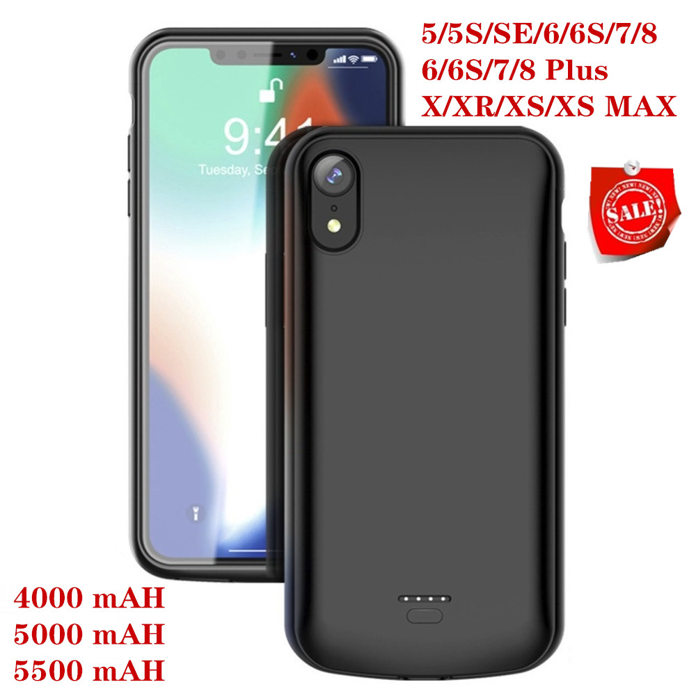 <font><b>Battery</b></font> Charger <font><b>Case</b></font> For <font><b>iPhone</b></font> SE 5SE 5 <font><b>5S</b></font> Cover 4000mAh Charging Powerbank <font><b>Case</b></font> For <font><b>iPhone</b></font> 5 6 7 8 X XR XS XS MAX <font><b>Battery</b></font> <font><b>Case</b></font> image