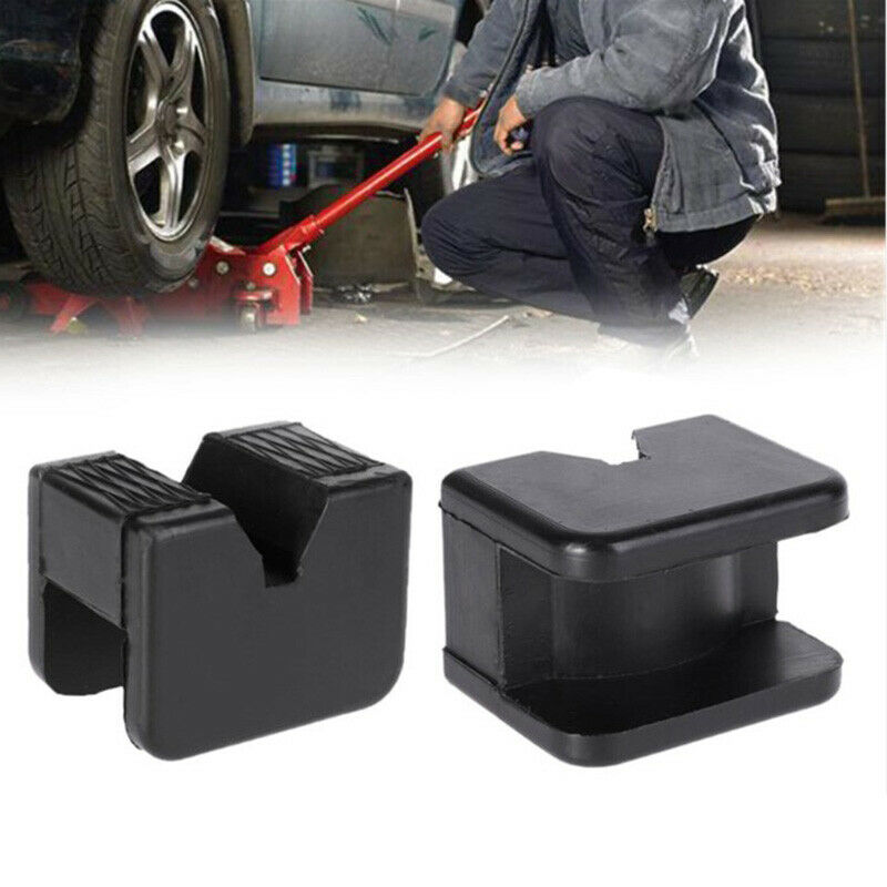 2PCS Adapter Stand Accessories Vehicle Repairing Jacking Pad Black Rubber Guard Universal Rail Floor Car Lifting Slotted Frame