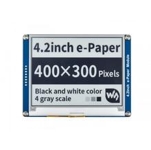 Waveshare 4.2 E paper ، 400x300 ، 4.2 بوصة وحدة عرض الحبر الإلكتروني ، لون العرض: أسود ، أبيض. لا الخلفية ، زاوية واسعة ، SPI interace ،