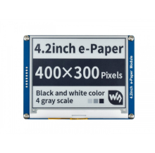 Waveshare 4.2e paper, 400x300,4.2inch E Ink display module,Display color: black,white. No backlight ,wide angle,SPI interace,