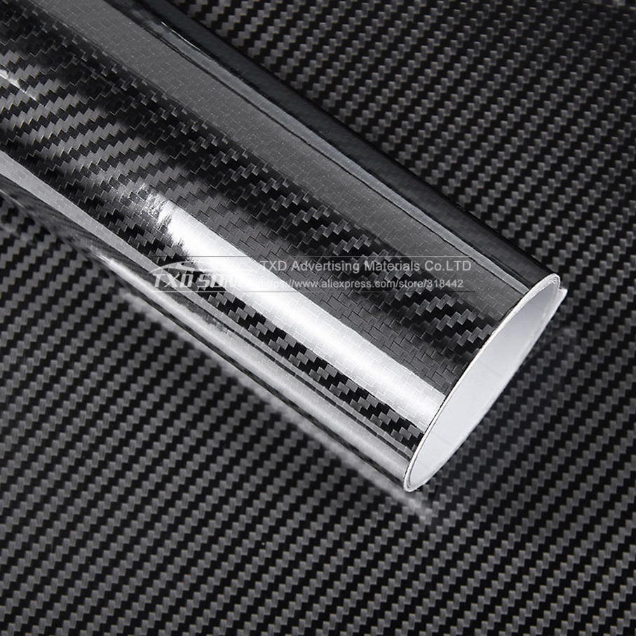 Image 2 - Ultra Gloss 5D Carbon Fiber Vinyl Wrap 3D Texture Super Glossy 5D Carbon Film With Size: 10/20/30/40/50/60x152cm-in Car Stickers from Automobiles & Motorcycles