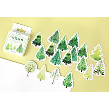 45pcs/box Cute Japanese Green Forest Mini Boxed Stickers Diary Scrapbooking Decorative DIY