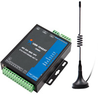 USR IO424T EWR 4 Way 4 Channel WIFI and Ethernet Network IO Controller Supports 4 DI/4 DO/2AI/1PT/ RS485 Port Master Slave Mode