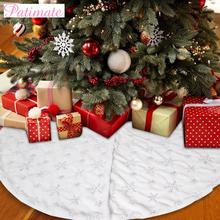 PATIMATE Christmas Tree Skirt Christmas Tree Decorations Merry Christmas Decorations For Home 2019 Navidad Gift New Year 2020 patimate christmas angel doll christmas tree decoration christmas decorations for home merry 2019 christmas gift new year 2020