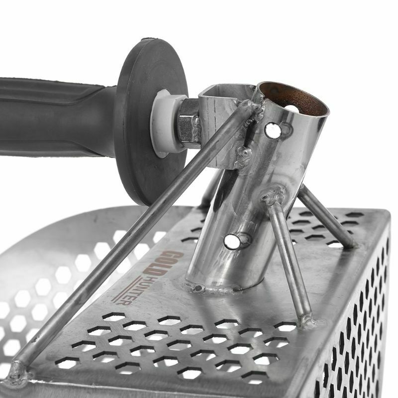 Detecting Gold Stainless Steel Sand Scoop Spade Digging Shovel Accessories Durable Metal Detector Hexahedron Holes Underwater