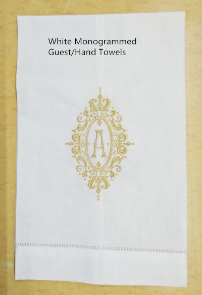 Set Of 12 Guest Towels Linen Hemstitched Monogrammed Tea Towel 14X22-inch Cleaning Cloth Guest Hand Dish Kitchen Bathroom Towels