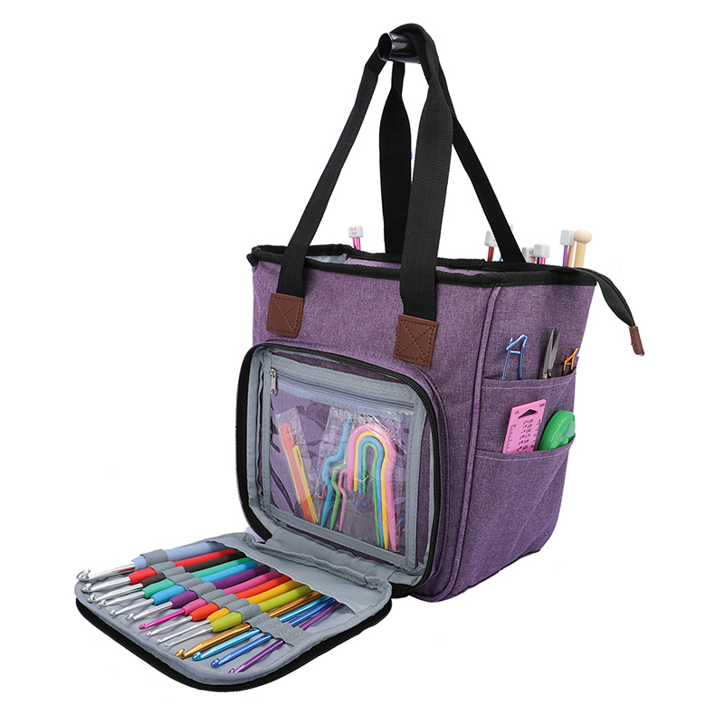 Women's Large Capacity Multi-purpose Sweater Sewing Storage Bag Oxford Waterproof Multiple Compartment Shoulder Messenger Bags