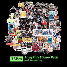 76 pz/set adesivi per bambini randagi Kpop Cartoon Stray Kids Fashion Cute k-pop sticker