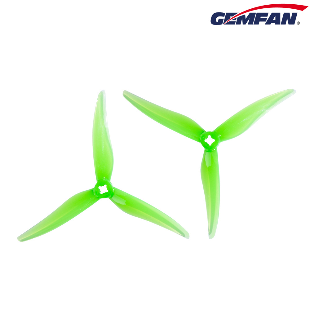 8PCS Gemfan Hurricane SL 5125 5.1inch 3-blade FPV Propeller 1.5/2.0mm For RC Drone FPV Racing Freestyle Iflight Nazgul5 Upgrade