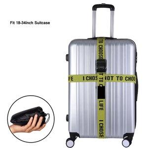 Ремень для багажа с буквами, ремни для чемоданов, регулируемая эластичная лента для чемодана с 3 цифрами, пароль TSA