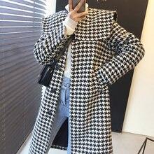 Шикарное винтажное элегантное пальто в Корейском стиле для женщин