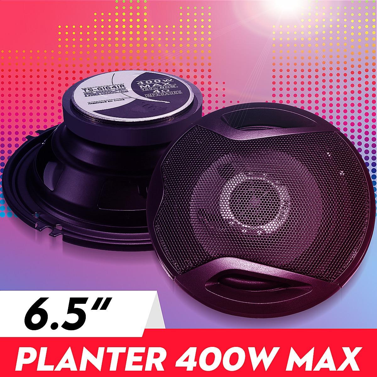 400w 6.5 Polegada alto-falante de áudio do carro 4-way coaxial universos estéreo magnético externo de alta fidelidade áudio do carro música subwoofer par