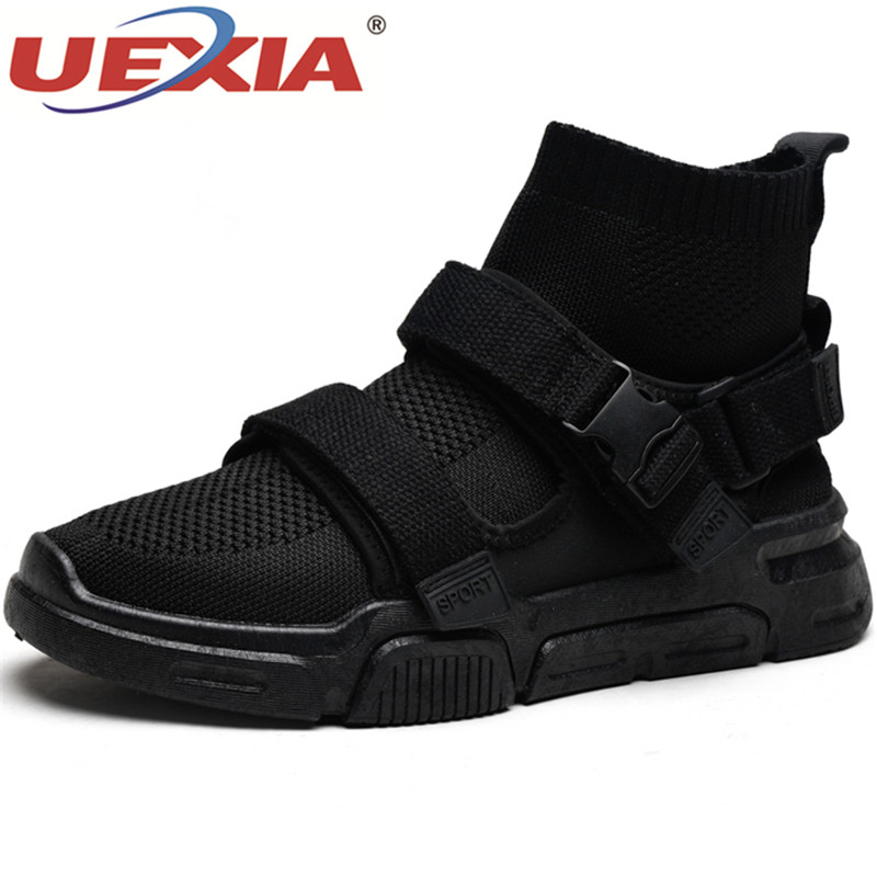 UEXIA Male Shoes Walking-Sneakers Mesh Slip-On White Adult Casual Fashion Summer Luxury