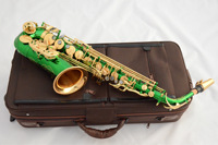 Saxphon E. Drop E Alto Painted Lacquer Green Double Color Green Paint Saxophone Manufacturers Factory Factory Supply