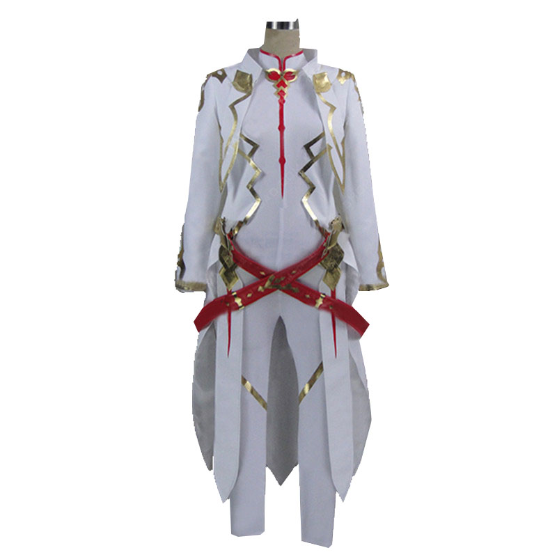 2020 Tales of Zestiria Alisha Kamui Divine Reliance Male White Cosplay Costume Christmas Halloween Costume