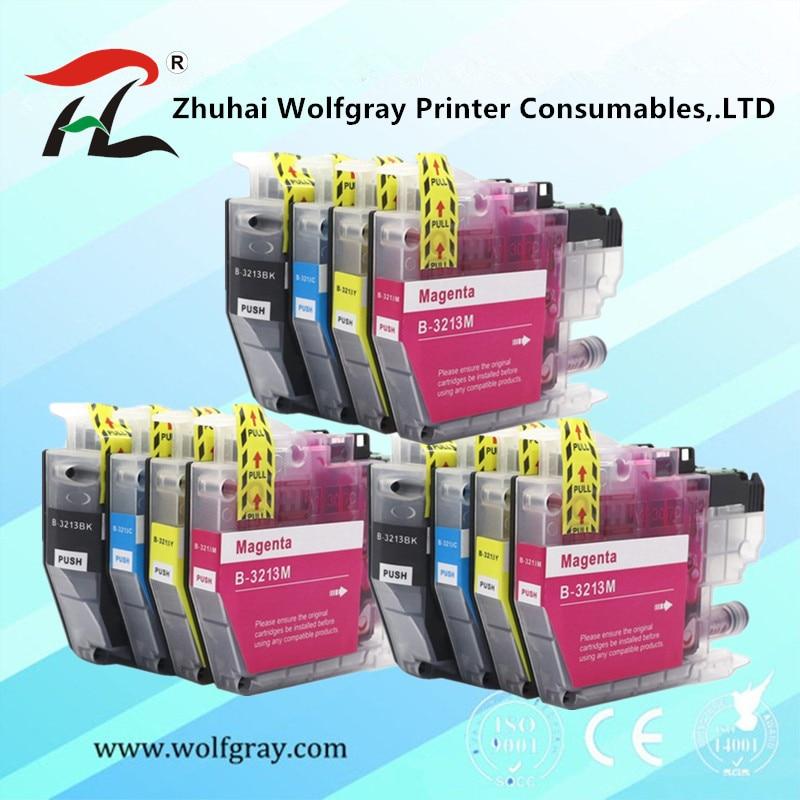 Набор из 12 совместимый чернильный картридж LC3211 LC3213 3213XL для Brother DCP-J772DW DCP-J774DW MFC-J890DW MFC-J895DW Injet принтер